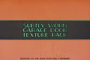 Subtly worn garage door texture pack by simonh4