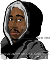 Tupac by celebcartoon
