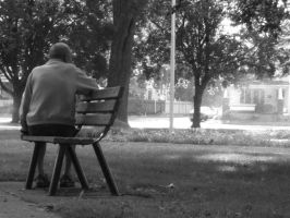 man on park bench 5065 by Daria67