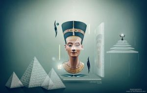 Nefertiti - marks of the Pharaonic past by Ahmed-Fares94