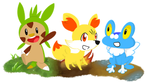 6th Generation Starter Pokemon by NSYee36