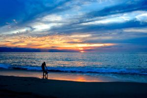 Blue Sunset Vallarta by Ekaiaistari