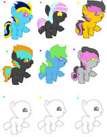 BREED'M UP: Ponies 2 LEFT by MephilesfanforSRB2