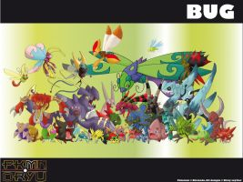Oryu wall: bug type by shinyscyther