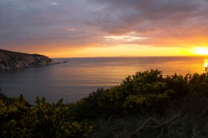 Alum Bay at Sunset by Kaz-D