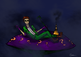 Riddler in Wonderland by Soirema-pl