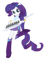 Rarity: EQG - Player Piano Transformation by whiteroze30