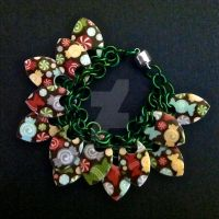 Christmas Candy Scalemaille Bracelet by Rosie-Periannath