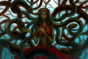 Swamp witch by Nairiai