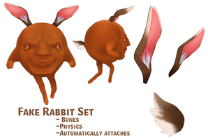MMD- Fake Rabbit Set -DL by MMDFakewings18