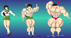 Commission - Kagome Growth Sequence by FudgeX02