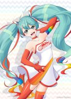 Racing Miku 2016 + Speedpaint! by KeezaPepper