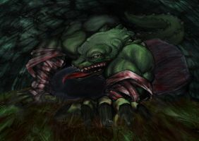 Killer Croc by Rhinozaurus