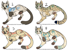 Assorted Feline Designs Batch 7 (CLOSED) by ChamberedNoctilus