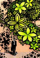 Drawn to Help 24: Flowers of Yellow and Green by theperian