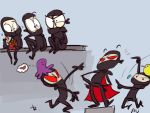Ninjawesomness, doodles 8 by Ayej