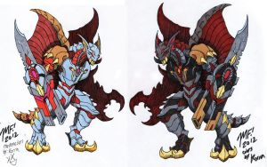 Heart eater colors (Kaiju Combat) by MrKorra