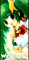 Green Anime girl 24. by mimory