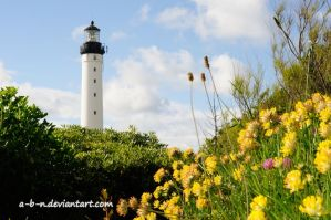 lighthouse in spring by a-b-n