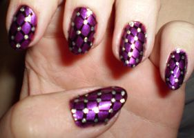 straps and studs nailpolish by shadowcat-666