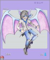 Human Zubat Card by FigBeater