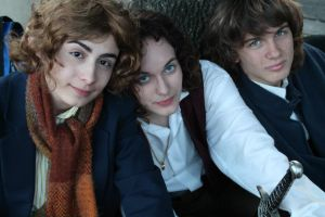 Pippin, Frodo and Merry by LaStatic