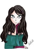Me in black hair by Chiiromi-chan
