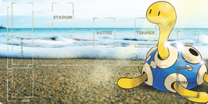 Shiney Shuckle Pokemon card play mat by Alpha-mon