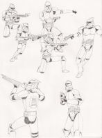 Clone Trooper Studies by Tribble-Industries