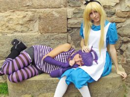 Alice and Chesire, Alice in Wonderland by Doriri-chan
