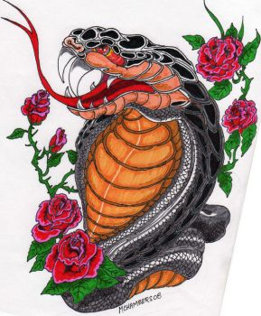Snake Tattoo by guitargold