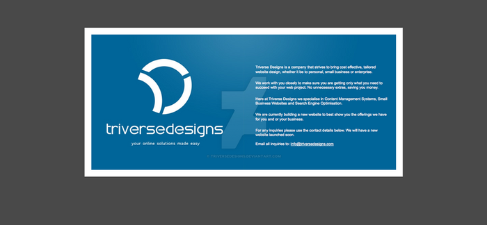 Triverse Designs Temporary by TriverseDesigns