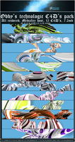 """Rendered """"technologic"""" C4D's by MikasDA"""