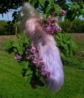 Lavender/Pink Gradient Yarn Tail by Ibbins