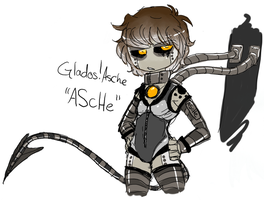Glados!Asche Sloppy Concept by AccursedAsche