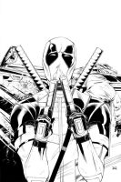Official Deadpool Movie Poster Lineart by mechangel2002