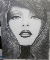 Girl with the Fur Hood by May5Rogers99