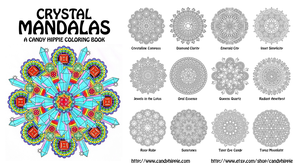 Crystal Mandalas Coloring Book by candy-hippie