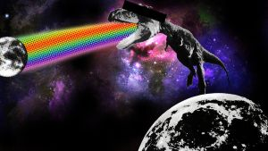 Attack of the Space Dino by chedoy