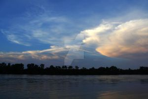 clouds over the river 2 by lowgearlarry