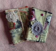 Tattoo Love Rose Heart Pouch/ Wallet by SewObession