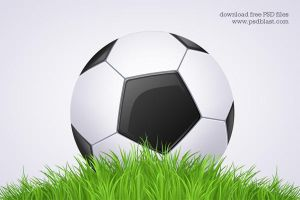 Black and White Football Ball Soccer Icon (PSD) by psdblast