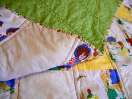 Raggedy Ann and Andy baby quilt by ChaosFay