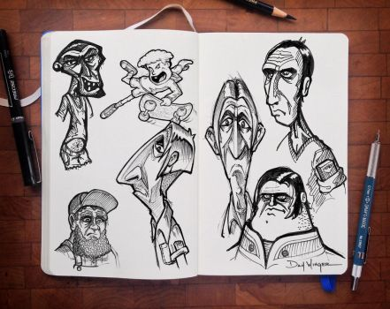 CharacterSketches-01 by WingerDesign