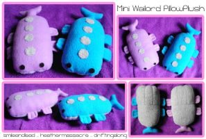 Mini Wailord PillowPlushies by SmileAndLead