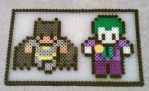 Batman and Robin Beaded Plaque by ReinaLaura