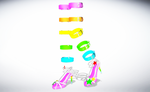 MMD Rainbow Strappies by amiamy111