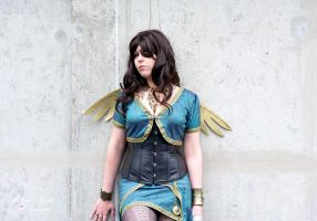 Steampunk Angel by MorganaBlackwings