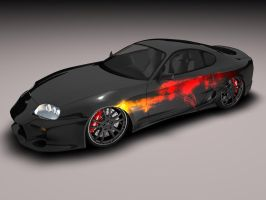 Toyota Supra - Black      -v2- by Snipehunter4