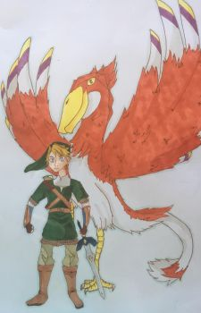 Link and His Loftwing by Tetra1090